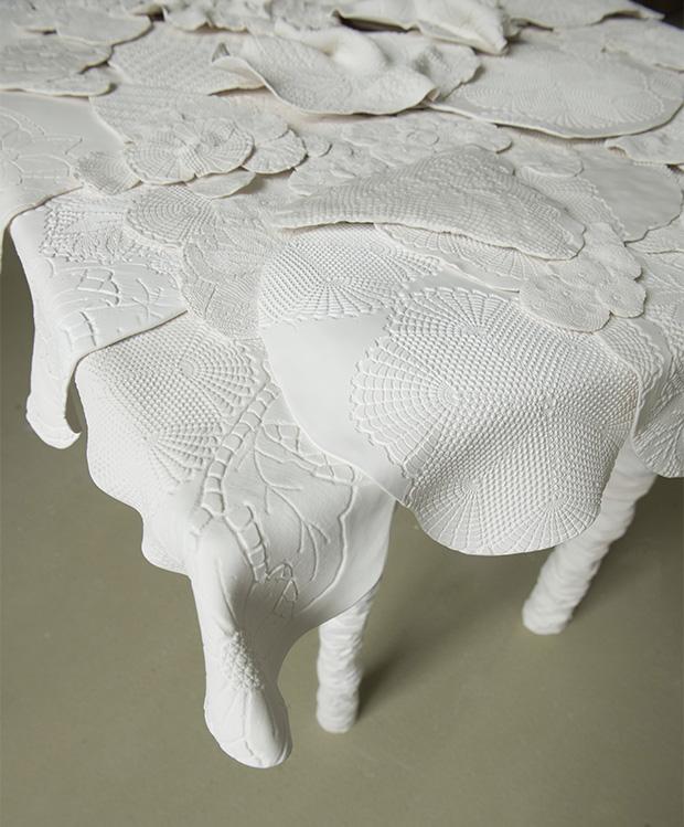 Tisch, Porzellan, Nazli Alkaya, Akademie der Bildenden Künste München